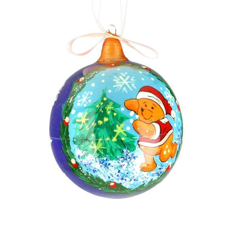 Christmas Pooh Ball Ornament