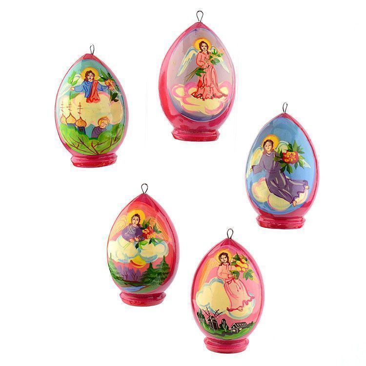 Easter Eggs Ornaments with Angels