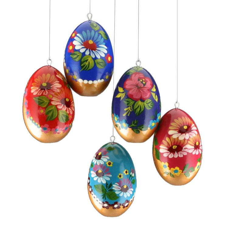 Floral Eggs Ornament Set