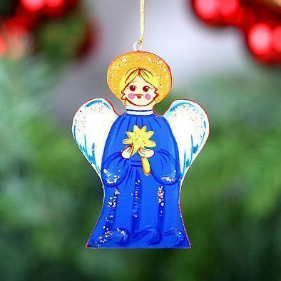 Christmas Angel Ornament Blue
