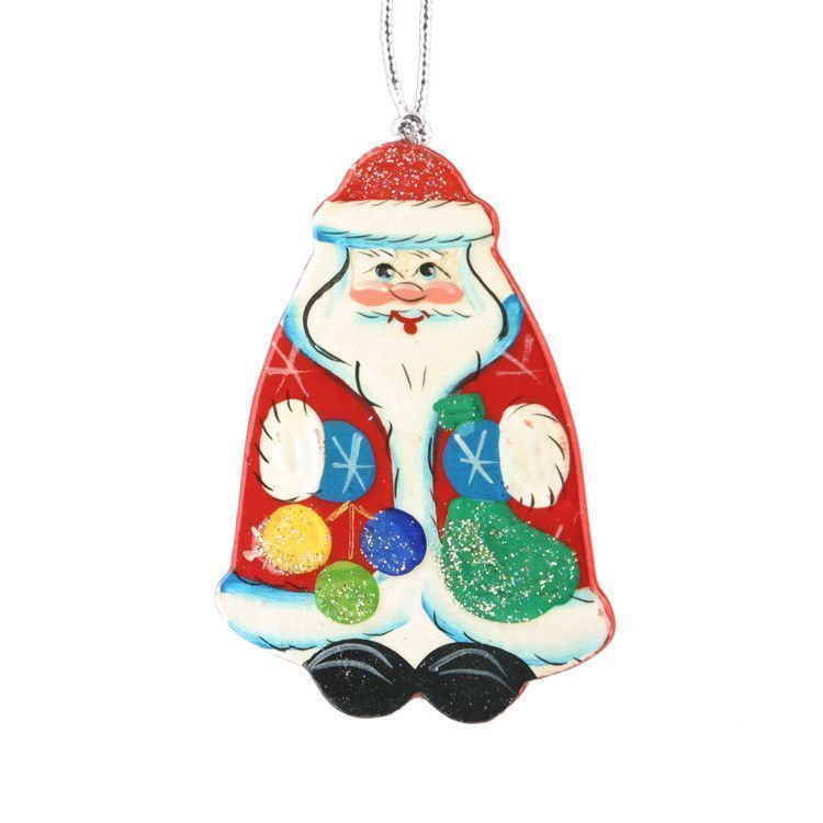 Happy Santa Christmas Ornament