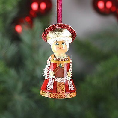 Russian Hospitality Doll Bell Ornament