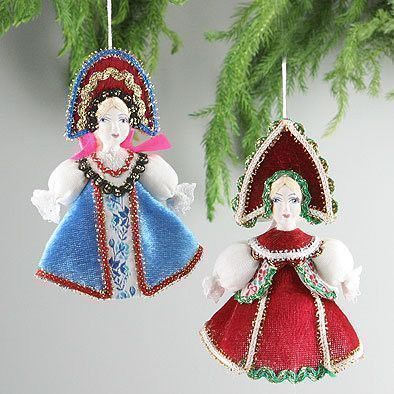 Russian X-Mas Ornament Dolls