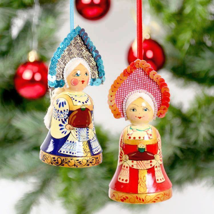 Russian Hospitality Girls Ornament Set
