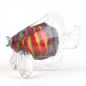 Handcrafted Figurine Tropical Art Glass Fish