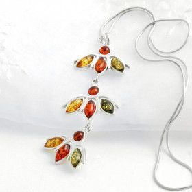 Amber Petals Necklace