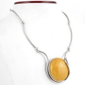 Vintage Butterscotch Cabochon Necklace