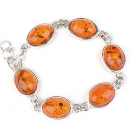 Classic Amber Silver Bracelet
