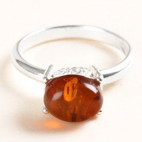 Unique Honey Amber Ring