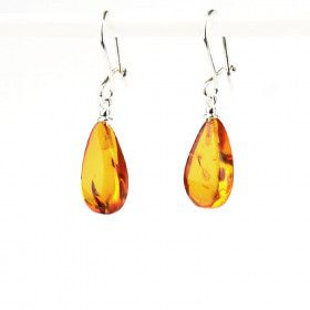 Classic Teardrop Amber Earrings