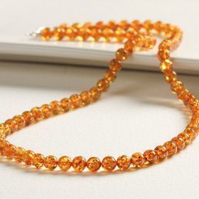 Classic Amber Honey Beads Necklace