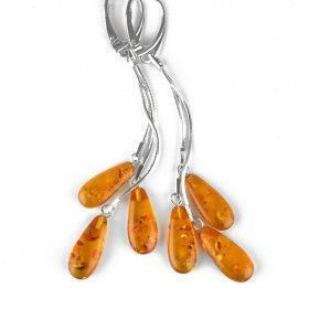 Drops Of Honey Amber Earrings