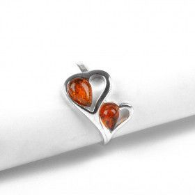 Heart to Heart Amber Ring