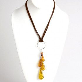 Amber Multi-Stone Teardrops Necklace
