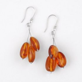 Amber Cluster Earrings