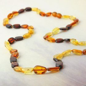 Multi-colored Amber Strand Necklace