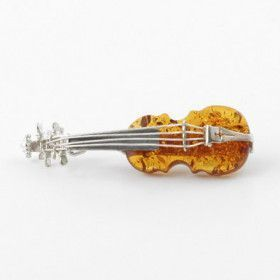Honey Amber Cello Pin