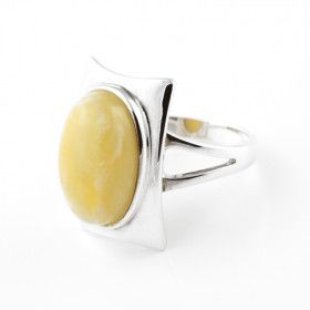 Modern Yellow Butterscotch Amber Ring