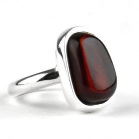 Simply Elegant Cherry Amber Ring