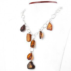 Natural Amber Chain Necklace