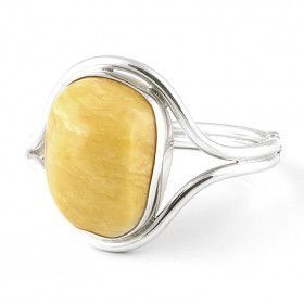 Large Free-shaped Butterscotch Amber Bangle Bracelet