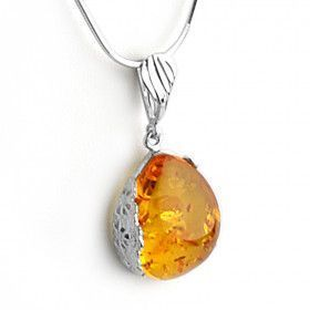 Bright Honey Amber Pendant