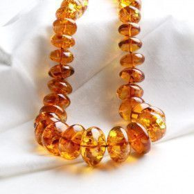 Big & Beautiful Honey Amber Beads Necklace