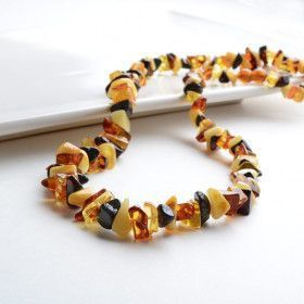 Bits of multi-colored Amber Necklace