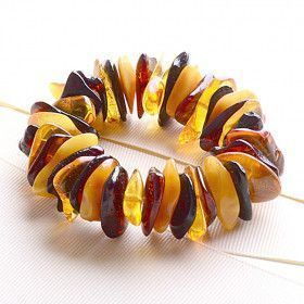 Multi-Colored Amber Chip Bracelet
