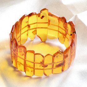 Stunning Baltic Honey Amber Stretch Bracelet
