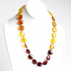 Baltic Amber Circles Beaded Necklace