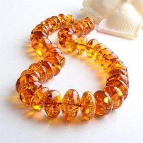 Big Beads of Honey Amber Necklace