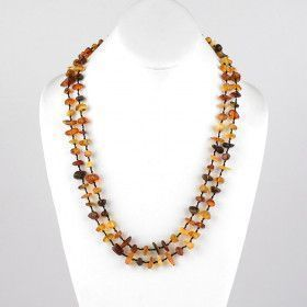 "Colorful 48"" Amber Necklace"