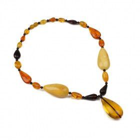Elegant Amber Teardrops Necklace