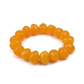 Chunky Butterscotch Amber Bracelet (Reconstructed)