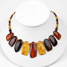 Admirable Amber Collar Necklace