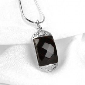 Faceted Cherry Amber Pendant