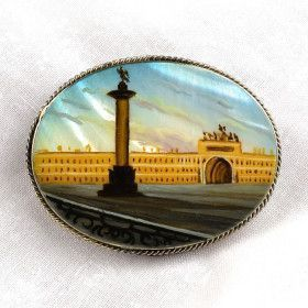 St. Petersburg Veiw Brooch
