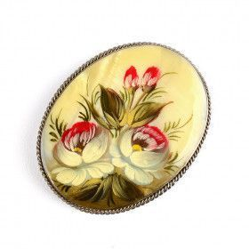 Mother of Pearl Floral Pin