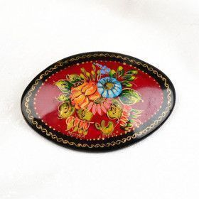 Russian Flowers Pin Brooch
