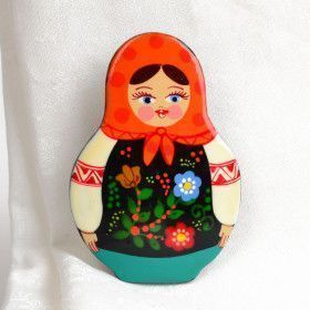 Wooden Matryoshka Pin