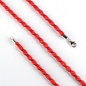 Red Silk Rope Pendant Cord