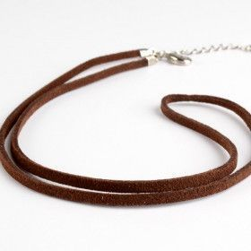 Unisex Brown Suede Cord for Pendant