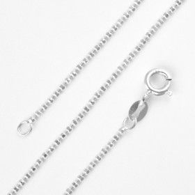 Silver Diamond Cut Beaded Chain