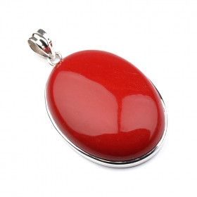 Large Red Coral Pendant