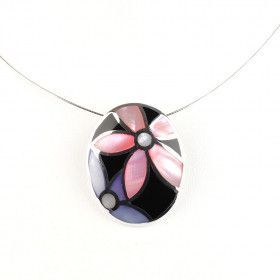 Mother of Pearl Inlay Pendant Necklace
