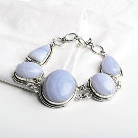 Blue Lace Agate Toggle Bracelet
