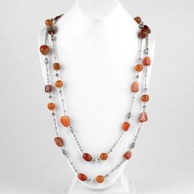 Carnelian Nuggets Necklace