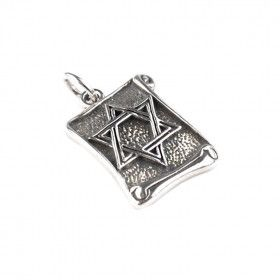 Sterling Silver Jewish Scroll Pendant