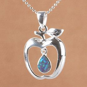 Opal Apple Pendant